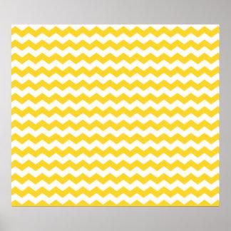 yellow  white chevrons poster