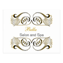 yellow white Chic Business Thank You Cards