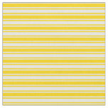 [ Thumbnail: Yellow & White Colored Lined/Striped Pattern Fabric ]