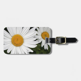 Yellow & white Daisies: flowers in bloom Tag For Luggage