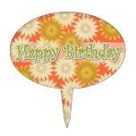 Yellow White Daisies Happy Birthday Cake Topper
