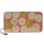 Yellow White Daisies Pink Doodle Speaker