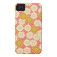 Yellow White Daisies Pink iPhone 4 Case