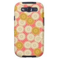 Yellow White Daisies Pink Samsung Galaxy S3 Case