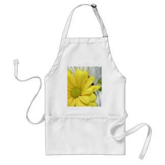 Yellow White Daisy Daisies Flower Flowers Photo Adult Apron