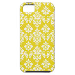 Yellow White Damask iPhone 5 Case