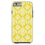 Yellow White Damask iPhone 6 case