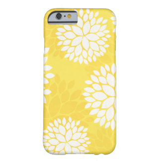 Yellow White Floral Monogram Barely There iPhone 6 Case