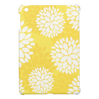 Yellow White Floral Monogram Case For The iPad Mini