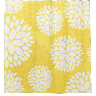 Yellow And White Shower Curtains Zazzle