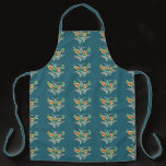 yellow white Hungarian floral pattern Apron