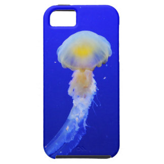 Yellow-white jellyfish in blue ocean iPhone SE/5/5s case