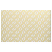 Yellow white Koi Fish oriental pattern fabric