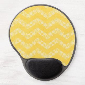 Yellow White Lace Gel Mousepads