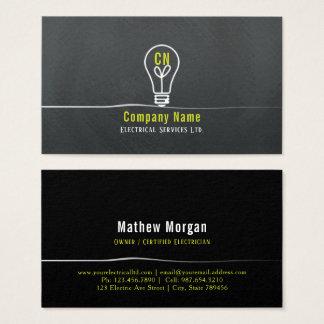 yellow & white lightbulb logo design business card