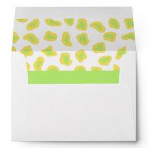 Yellow, White & Lime Green Zebra & Cheetah Skin Envelope