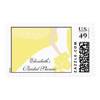 Yellow/White Modern Bride Bridal Shower Stamp