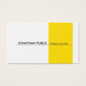 Lawyer Themed Yellow White Modern Professional Elegant Simple Business Card