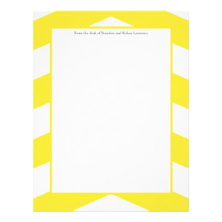 Yellow & White Modern Stationery w/ Signature Text Letterhead
