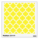 Yellow White Moroccan Quatrefoil Pattern #5 Wall Graphics