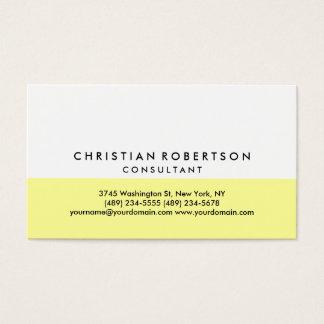 Yellow White Plain Modern Business Card