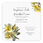 Yellow White Plumeria Hawaiian Wedding Card