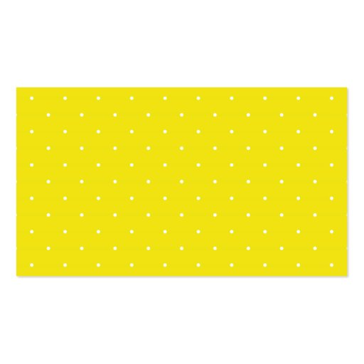 Yellow & White Polka Dots Double-Sided Standard Business Cards (Pack Of 100)