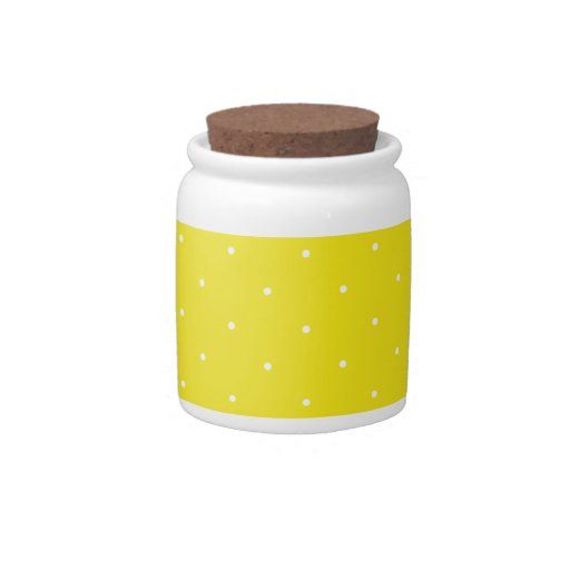 Yellow & White Polka Dots Candy Dishes