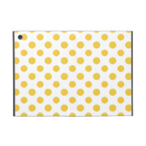 Yellow White Polka Dots Pattern Case For iPad Mini
