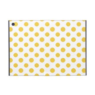 Yellow White Polka Dots Pattern Case For iPad Mini