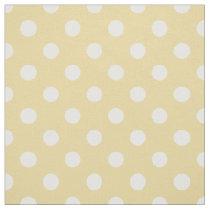 Yellow white polka dots pattern fabric