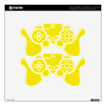 Yellow & White Polka Dots Skin For PS3 Controller