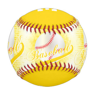 Yellow | White Retro Baseball Sports