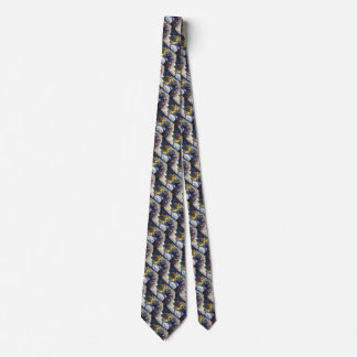 yellow & white Saltwater Copperband Butterflyfish Tie