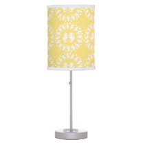 Yellow & White Seahorse Pattern Desk Lamp