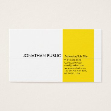 Lawyer Themed Yellow White Simple Modern Professional Elegant Business Card