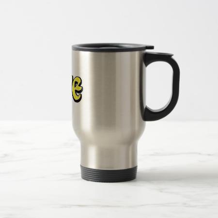 Yellow & White Star Love Coffee Mug