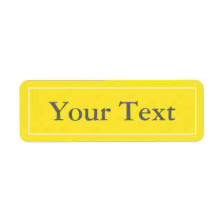 Yellow & White Stickers or Labels w/ Custom Text