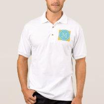 Yellow White Stripes Pattern, Your Monogram Polo Shirt