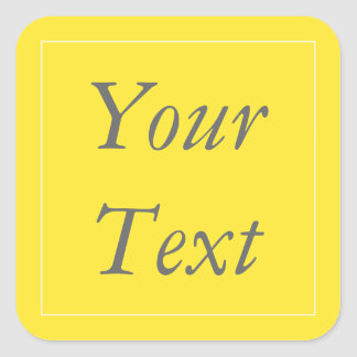 Yellow & White Thank You Stickers and Favor Labels