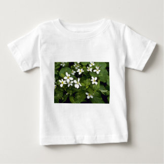 Yellow White Violet (Viola Canadensis) flowers Infant T-shirt