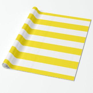 Yellow, White XL Stripes Pattern Wrapping Paper