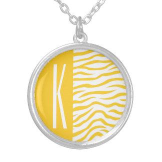 Yellow & White Zebra Stripes Animal Print Jewelry
