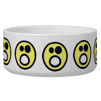 Yellow Whoa Open Mouth Smiley Face Bowl