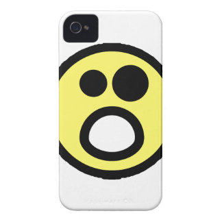 Yellow Whoa Open Mouth Smiley Face iPhone 4 Covers