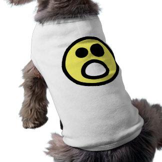 Yellow Whoa Open Mouth Smiley Face Pet Shirt