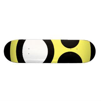 Yellow Whoa Open Mouth Smiley Face Skateboard Deck
