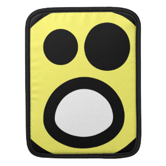 Yellow Whoa Open Mouth Smiley Face Sleeve For iPads