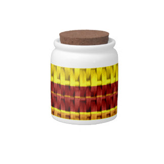 Yellow wicker seamless graphic design candy dish