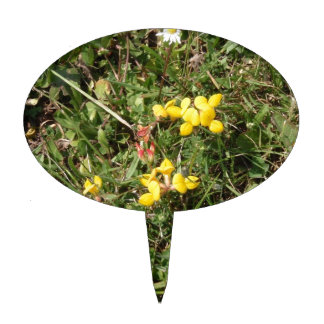 Yellow Wild Flower Cake Topper